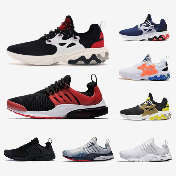 Compre Nike Air Presto React Shoes React Presto Hombres Mujeres Zapatos Corrientes Triple Negro Rabid Panda Breezy Jueves Brutal Honey Prestos Hombres