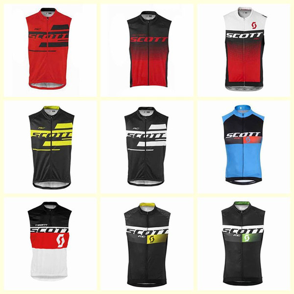 SCOTT team Cycling Sleeveless jersey Vest men outdoor high quality Breathable MTB Bike Clothes bicycle 100%Polyester sportswear U60549