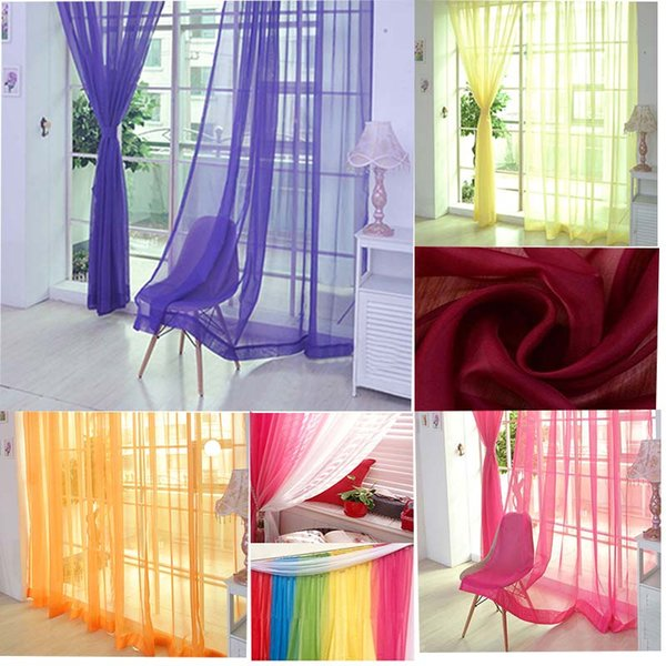 2019 Home Curtains 200cm×100cm Chiffon Material Tulle For Living Room Hotel  Restaurant Decorating Kitchen Window Decor From Newcute, $38.22 | ...