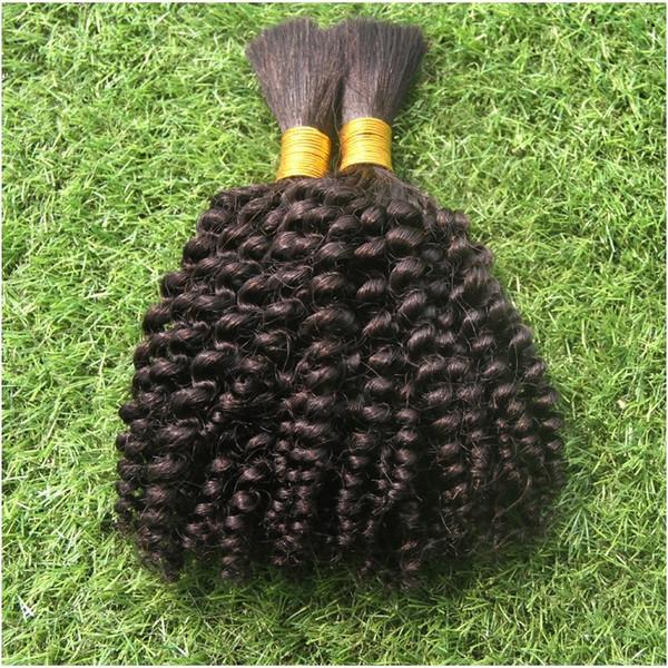 Pure Black Color Pure Black Color Brazilian Loose Wave Hair Bulk Extensions Cheap 100g 100% Human Hair Bulk Hair For Braiding No Weft