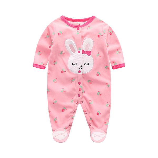 good qulaity 2019 new fashion baby boys girls cartoon romper toddler children spring autumn jumpsuits newborn casual sleepwear