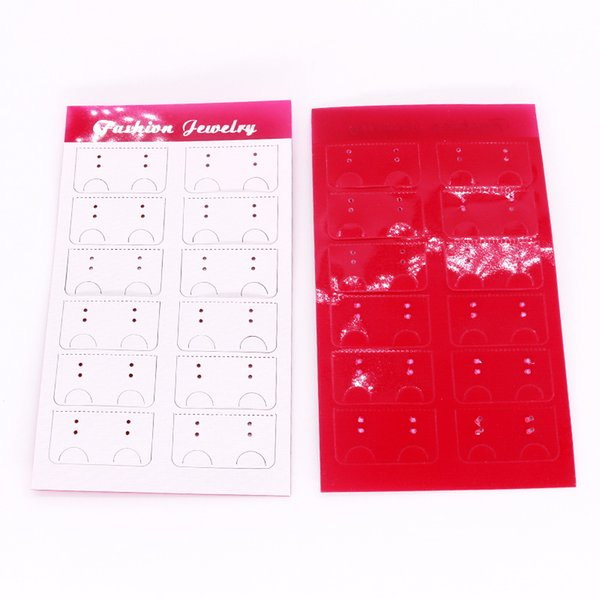 100pcs/lot Paper+PVC Hang Tag Holder Card 8.8x15cm Ear Studs Jewelry Display Packaging Decoration Label Price