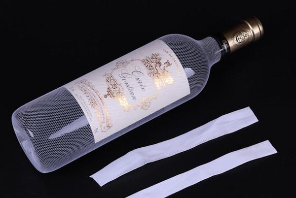 top popular 2000pcs plastic PE red wine bottle protective net bottle socks bottle sleeve net white in stock SN3155 2021