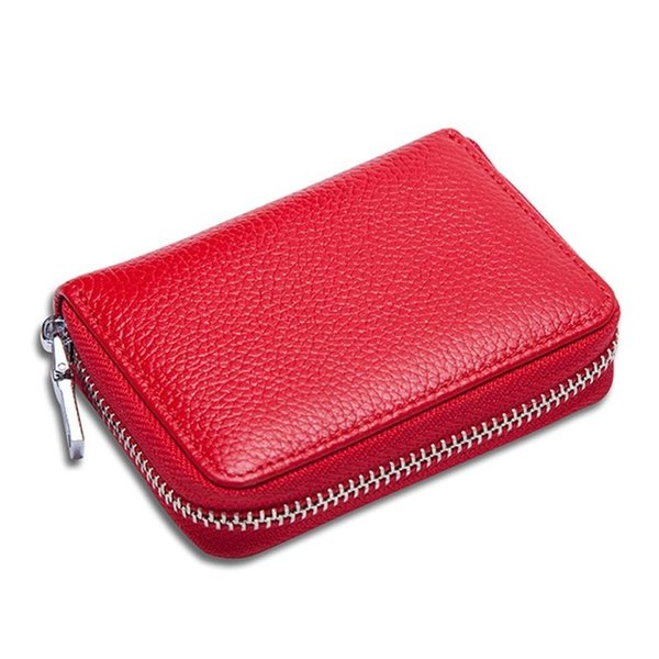 New Arrival Men Women Coin Purse Candy Color Cow Leather Zipper Mini Card Holder Wallet Clutch Money Bag Small Change Bag Fa$1