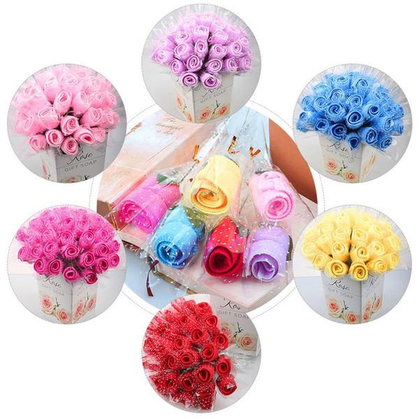 Einfache Rose Handtuch Single Innovative Mini Kuchen Handtuch Hochzeit Weihnachtsgeschenk Kindergarten Present Company Aktivitäten