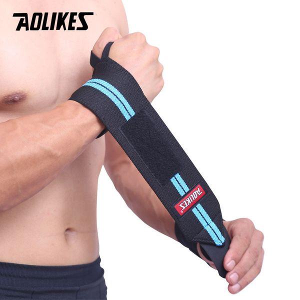 1 pcs Suporte De Pulso Ginásio Levantamento De Peso Luvas De Levantamento De Peso Ginásio Bar Aperto Barbell Straps Wraps Proteção Das Mãos