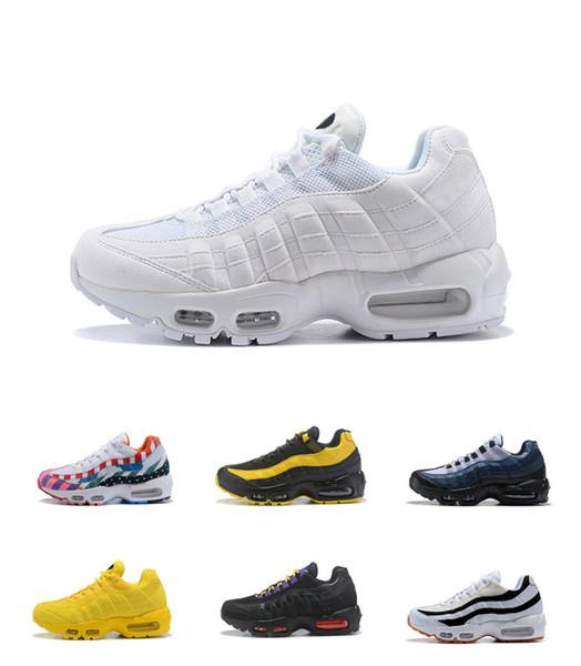 Diskont neue Air Laufschuhe 2019 stilvolle, Blau, Rot, Rosa, Gelb Weiß Bunte Schwarz Sport Schuhe für Männer Frauen mit dem Kasten