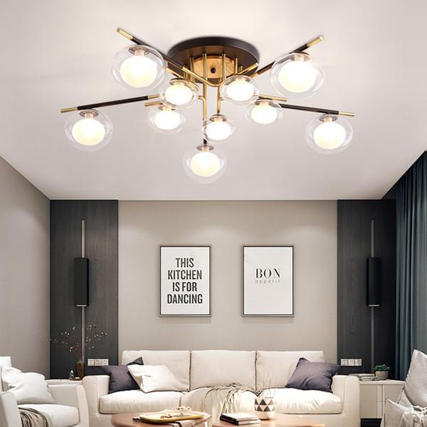 Contemporary feijão mágico luzes pingente luminária iluminação de teto de vidro de luxo para viver quarto sala de jantar ilha de cozinha quarto