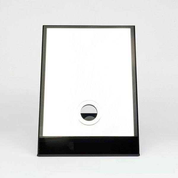 6 High-grade acrylic box oversized desktop mirror multi-function cosmetic mirror paper release VIP gift Luxury white gift box