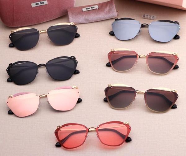 Modische Sonnenbrille für Männer und Frauen, Sonnenbrille zum Radfahren und Fahren im Freien, Modetrend-MatchmiumiuSonnenbrille 048