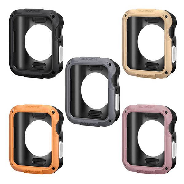 Custodia morbida in silicone con custodia protettiva per Apple Watch Series 4 iWatch 40 / 44mm