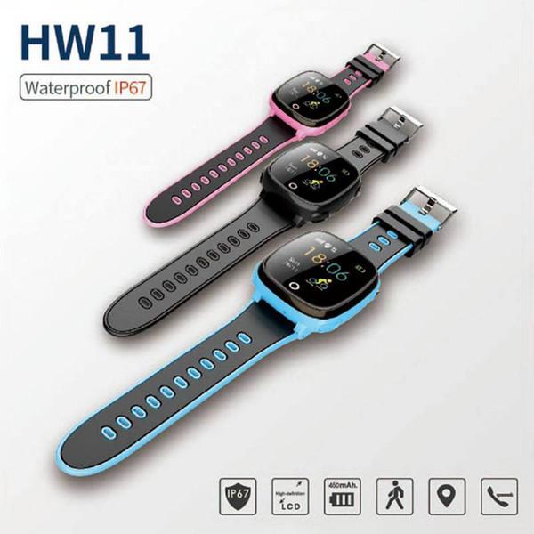 Orologio astuto dei bambini IPX67 impermeabile standby lungo GPS + LBS doppio telefono di posizionamento orologio Health Health Monitor di sicurezza Tracker Hot