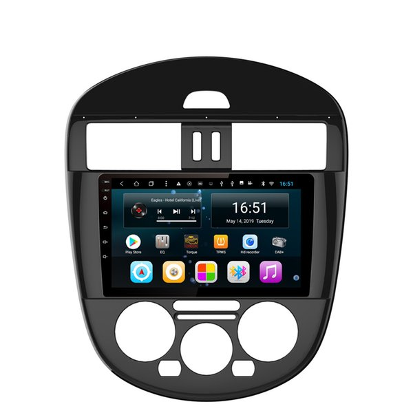 Android car radio with precise GPS navigation free map excellent bluetooth microphone MP3 MP4 music for Nissan new tiida manual AC 9inch