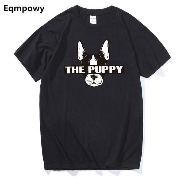 Os Recém-chegados Moda Bulldog Francês Impresso T-Shirt dos homens Cães Animais T Camisa de Verão de Alta Qualidade Hipster Tee Tops