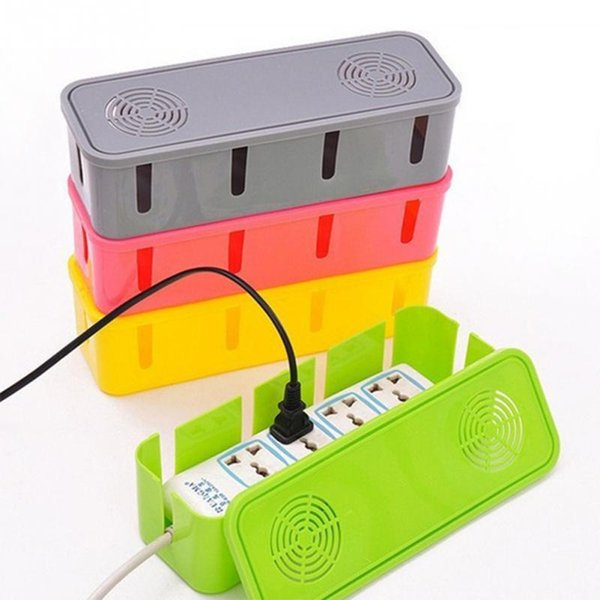 Power Cord Socket Storage Case Cable Manager Organizer Heat Emission Hole Box Dustproof Safety Clean Tidy Accessories 5 Colors