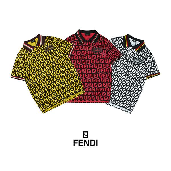 2019 design FD lettere LOGO Stampa risvolto polo T-shirt Sport magliette Estate uomo donna Street Skateboard maniche corte Casual top tees camicie