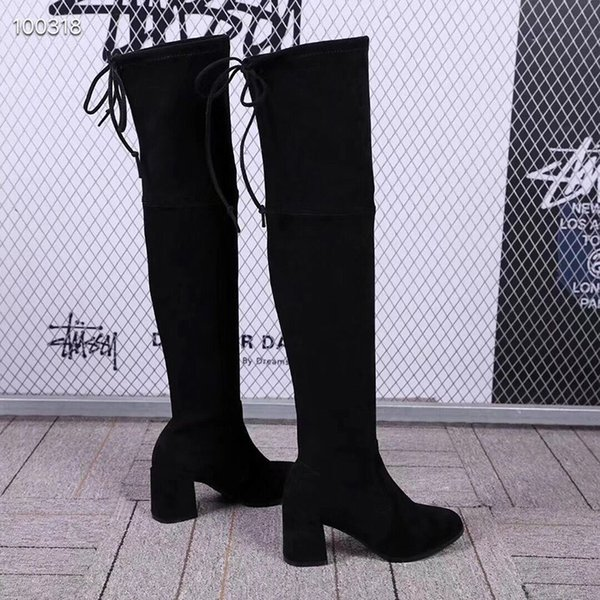2019 Fashion Stretch Boots Casual Ladies High Heeled Elastic Socks Boots  Over The Knee Boots Breathable Elastic Ladies Plus Velvet Winter Boot From