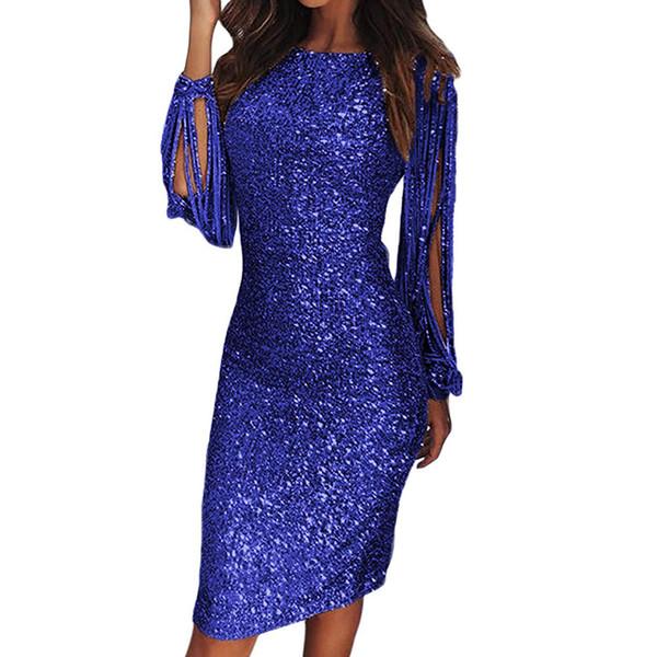 2019 Elegant Beading Split Evening Dresses Rami Salamoun Appliqued High Neck Mermaid Sequins Long Prom Dress Real Images Cheap Formal Gowns