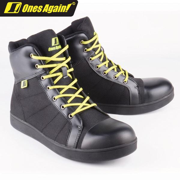 Acheter Encore Une Fois! Bottes De Moto Décontractées Chaussures De Moto Résistantes À L'usure Route Bottes D'équitation MS02 De $157.65 Du Yaseri |