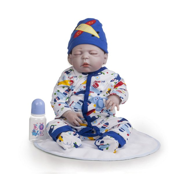 22 Inch 55cm Reborn dolls Full silicone body reborn baby girl dolls Girls Bath Lifelike Real Vinyl Bebe Brinquedos Sleeping Reborn Bonecas