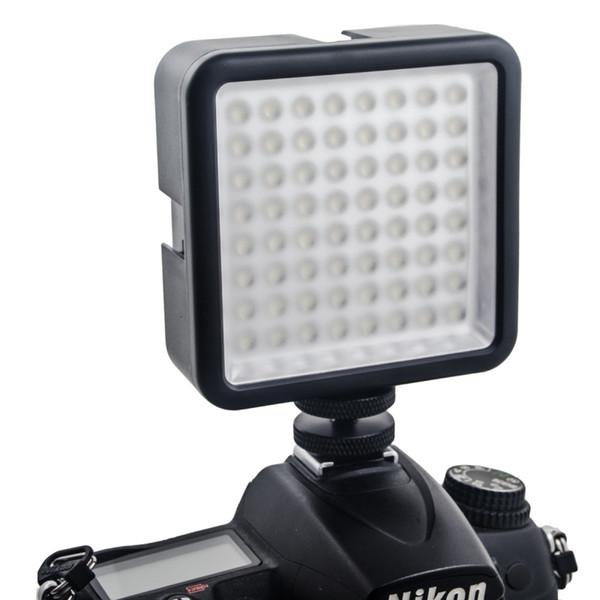 64 painel video conduzido da lâmpada da luz da suficiência para a iluminação da entrevista da notícia da câmera de DSLR