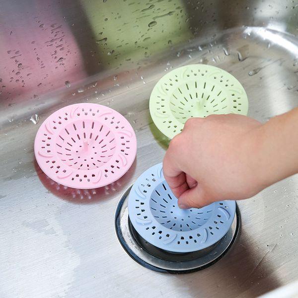 Silikon Kanalizasyon Drenaj Lavabo Banyo Aksesuarları için Yer Sifonu Saç tıpa Catcher Mutfak Filtre Kapaklar Karşıtı engelleme