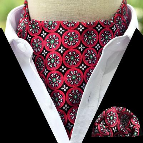 11 Style 2019 Fashion Luxury Polyester Silk Printed Men Scarf Polka Dot Scarves Suit England Jacquard Weave Ties Paisley Wedding