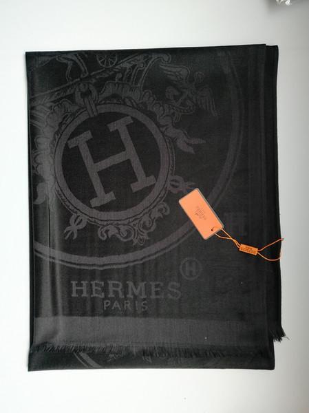 2018 Date haute qualité coton marque écharpe mode homme femmes foulards célèbre conception marque long 180x70cm écharpes sans boîte