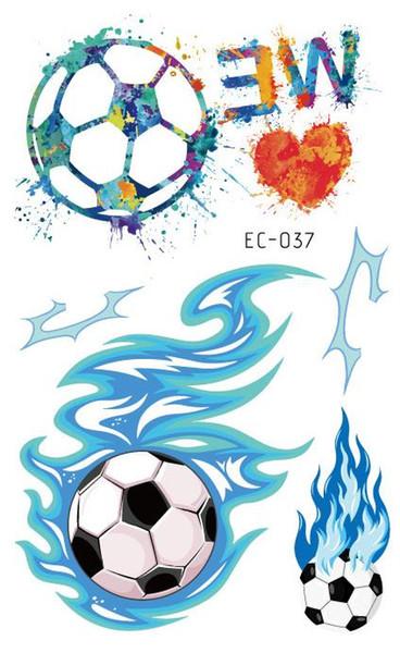 Tatuaggi temporanei Tatoo per bambini Adesivo per tatuaggi Calcio Pallone da calcio Fan Tatto Tatouage Tatuaggi impermeabili per uomo Donna Ragazza Ragazzo Bambini