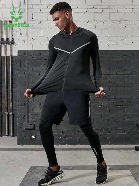 2019 Set da corsa per uomo Quick Dry 3/4 / 5pcs / sets Tute sportive da compressione Calzamaglia da basket Abbigliamento da palestra Fitness Jogging Abbigliamento sportivo