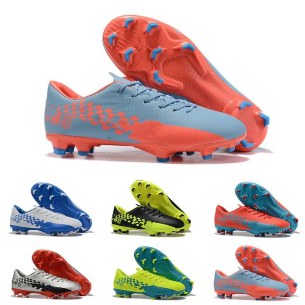 6fab6f6a9 New Arrival Cheap Mens Mercurial Vapo XIII PRO FG Football Shoes Best  Quality White Red Neymar XII PRO FG Indoor Soccer Cleats Shoes 2019
