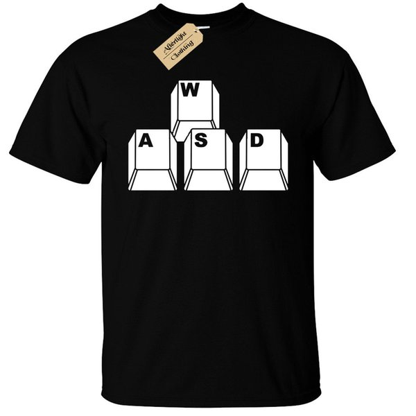 WASD Keyboard Keys Mens T-Shirt Funny geek nerd gamer computer pc giftFunny free shipping Unisex Casual Tshirt
