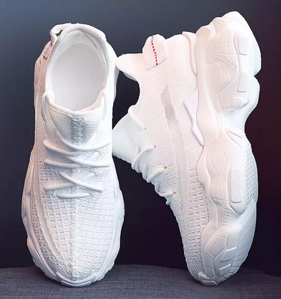 Deluxe Burst erhöhen atmungsaktive weiße Schuhe Frauen 2019 Frühjahr und Sommer neue dicke Unterseite lässig atmungsaktive hohe Stoffschuhe