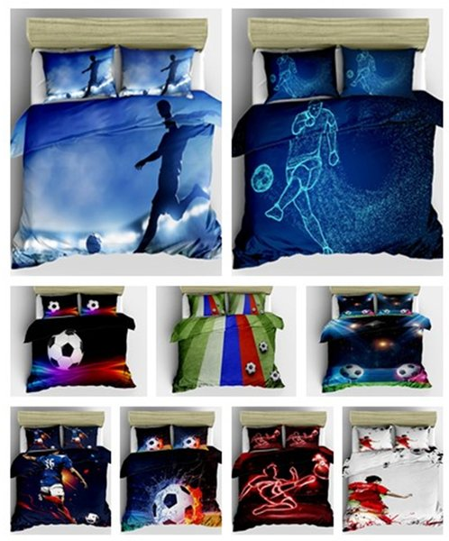 3D Football Design Bedding Set 2PC/3PC Duvet Cover Set Of Quilt Cover & Pillowcase Twin Full Queen King Size