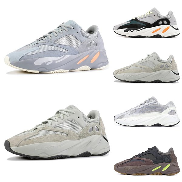Hot sale 700 Wave Runner running shoes for men women INERTIA salt Static 3M reflective Mauve Multi Solid Grey mens trainers sports Sneakers