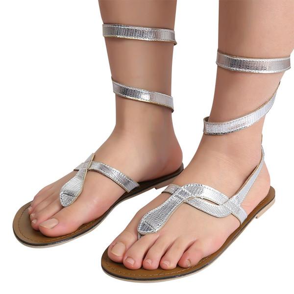 9e72438d6 YOUYEDIAN Mulheres Plana Sandálias 2019 Snake Imprimir Gladiador Sandálias  Das Mulheres Plus Size Verão Praia Sapatos
