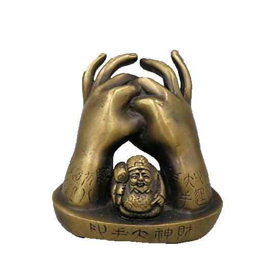 Chinese Pure Brass Buddha Hand God Of Wealth Crafts Buddha Hand Statue