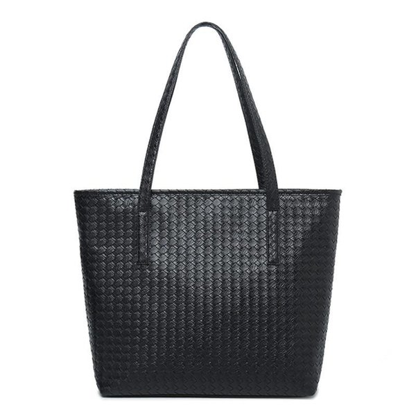 Casual Women Leather Handbag Black Shoulder Bags Large Capacity Tote Bag Female Designer Shopping Bags Hand Bag