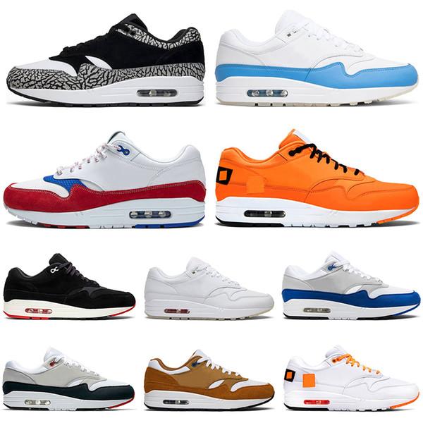 Compre Nike Air Max 1 Anniversary Premium Sc Reaccionar Elemento 87 Atmos 87 Aniversario 1 Zapatos Corrientes Piet Parra 87 Prima 1 DELUXE SANDÍA