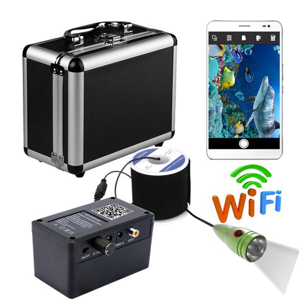 PDDHKK 와이파이 무선 비주얼 비디오 물고기 찾기 물고기 카메라 6 개 1 와트 IR Led 방수 낚시 카메라 비디오 모니터