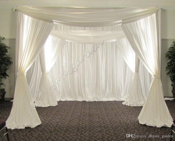 Fond de mariage réglable en acier inoxydable de couverture de pied carré / auvent / chuppah / Arbor