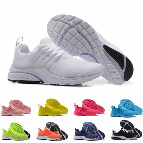 2018 Presto 5 Zapatos para correr Hombres Mujeres Ultra BR Air QS Amarillo Rosa Prestos Negro Aire Blanco Oreo Jogging al aire libre Zapatillas de deporte para hombre Tamaño 36-46