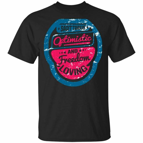 Vintage Sagittarius Oftimistic Zodiac Sign Gift Black, Navy T-Shirt S-6Xl Custom Print Tee Shirt