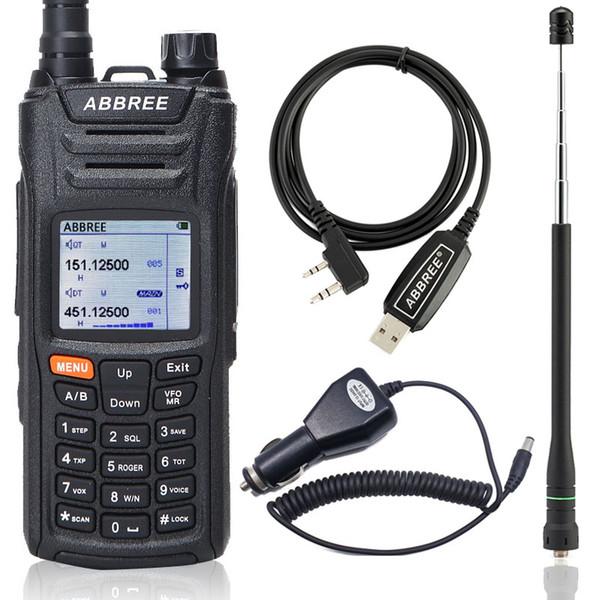 ABBREE AR-F6 Walkie Talkie 125-560MHz Todas las bandas de largo alcance Pantalla dual Doble modo de espera VOX DTMF SOS Pantalla LCD a color Radio de jamón