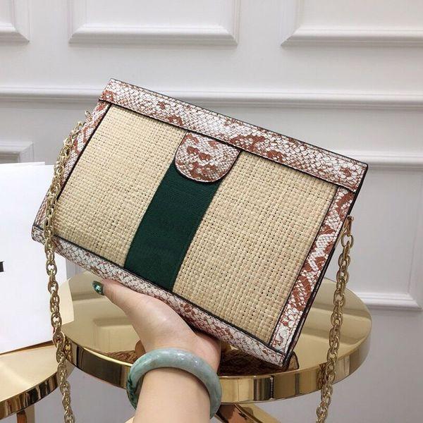 best selling Newest serpentine chain Clip package designer luxury handbags purses calssic Presbyopic package Weaving section designer crossbody bag