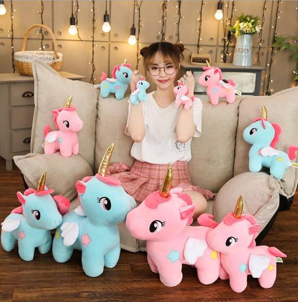 bravo christmas party stuffed plus supply cute unicorn plush toy stuffed unicornio animal dolls soft cartoon mini toys for children
