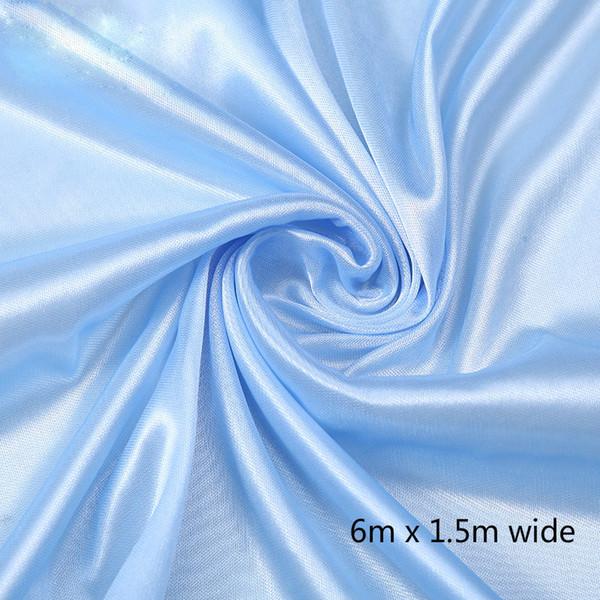 1.5*6m blue curtain