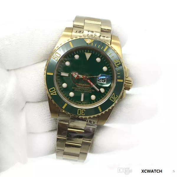 Top AAA Sale Mens Watch high quality automatic watches for men wristwatch green Ceramic Bezel Sapphire glass Original Clasp.