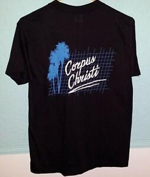 80 039 s Vintage Corpus Christi Texas Double Sided Short-Sleeveuvenir T Shirt Large Short-Sleeve
