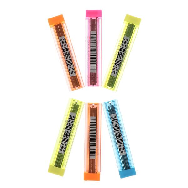 12 İlanlar / 1 Tüp 2B HB 0.7mm Mekanik Kurşun Kalem Dolum Plastik Otomatik Okul Malzemeleri Için Kalem Kurşun Kalem Renk Rastgele